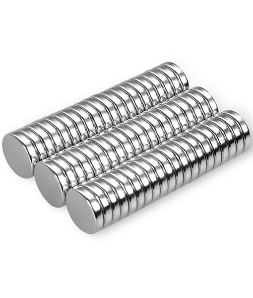 Anpro 60PCS Round Neodymium Magnets 10mm Diameter, 2mm Thick 200g Powerful Pull (One Small Magnet) For Hanging Paper, Folder, Photo, Recipes on Magnetic Frame or Fridge, Magnetic Board