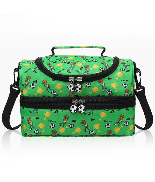Anpro 7L Lunch Bag Children-Insulated Lunch Bag for Kids Double Decker with Detachable Strap 25 * 17 * 16.5cm,Purple Unicorn