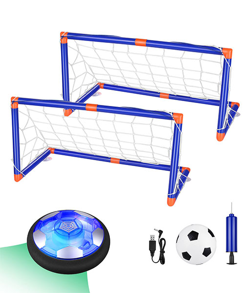 Anpro Air Power football set, children's football toy with LED lighting indoors and outdoors for children, boys and girls