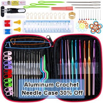 Anpro Crochet with Case Aluminum Crochet Needle Case Promotion, Welcome to Purchase